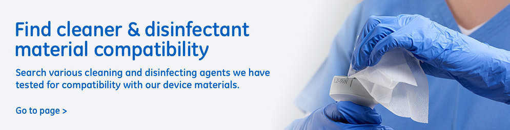 Find cleanear & Disinfectant material compatibility